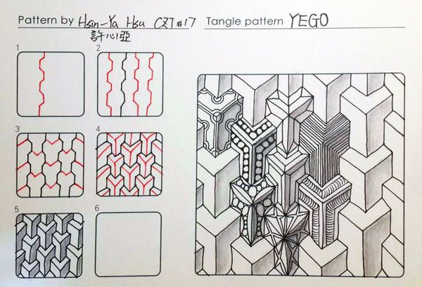 Yego tangle pattern                                                                                                                                                                                 More