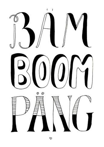Bäm Boom Päng. Falling in love deeply. // Handlettering by www.luloveshandmade.com