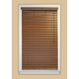 Style Selections 2-In Bark Faux Wood Room Darkening Plantation Blinds (Common: 30.5000-In X 84-In; Actual: 30.5000-In X