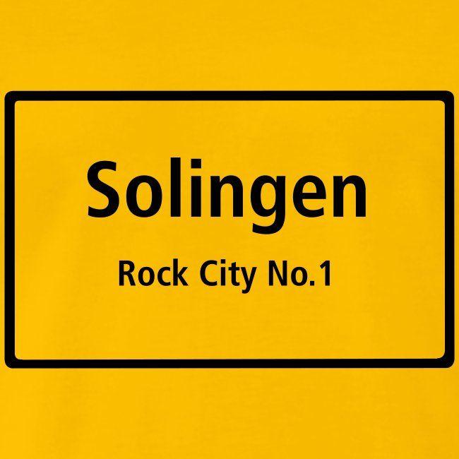 Solingen Rock City No 1 Manner Premium T Shirt In 2020