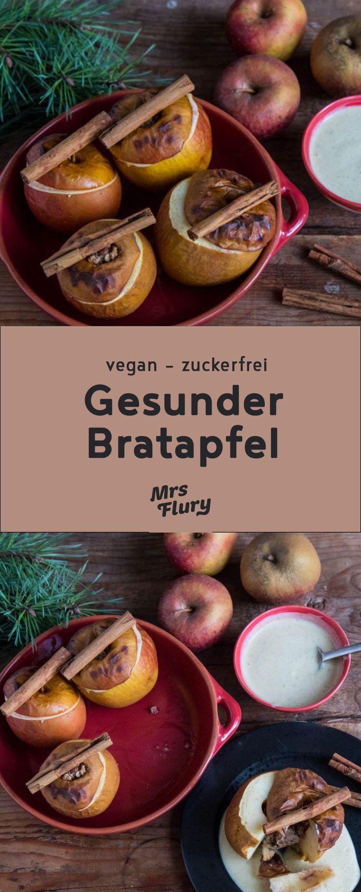 Healthy baked apple vegan & gluten free   – Gesunde Weihnachten – Winter Rezepte – Kochen und Backen