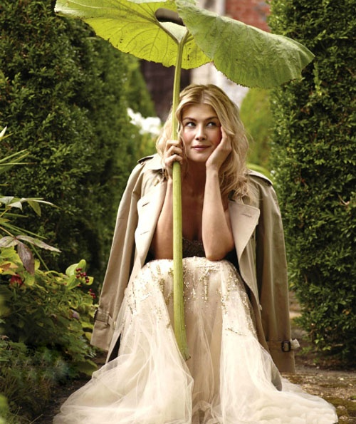 Town & Country via The House That Lars Built - Rosamund Pike