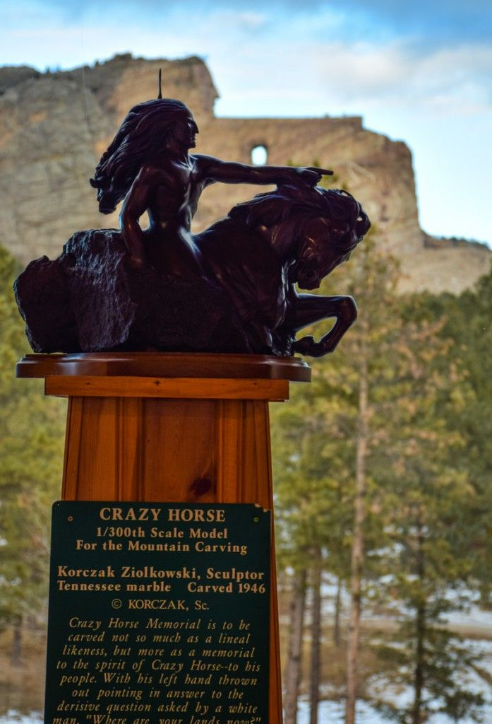 Crazy Horse Memorial, South Dakota - Blasting began on the world's largest mountain sculpture in 1948 and continues to this day with no end in sight