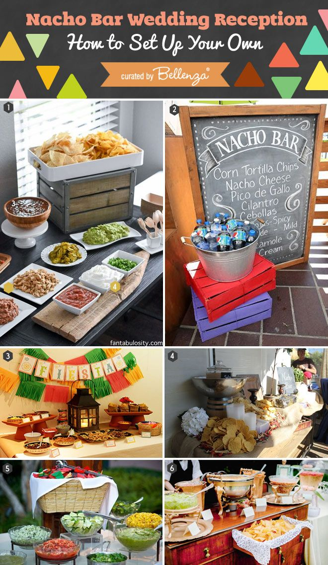 how to set up a chic nacho bar for your wedding bar weddings and wedding. Black Bedroom Furniture Sets. Home Design Ideas