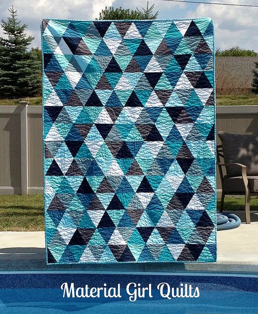 Bermuda triangle quilt by Material Girl Quilts