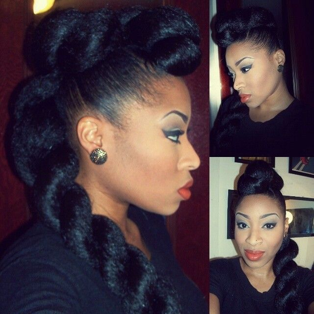 Ponytail Mohawk On Natural Hair