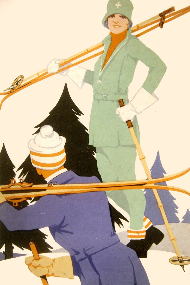 1930: Advert for Burberry ski suits