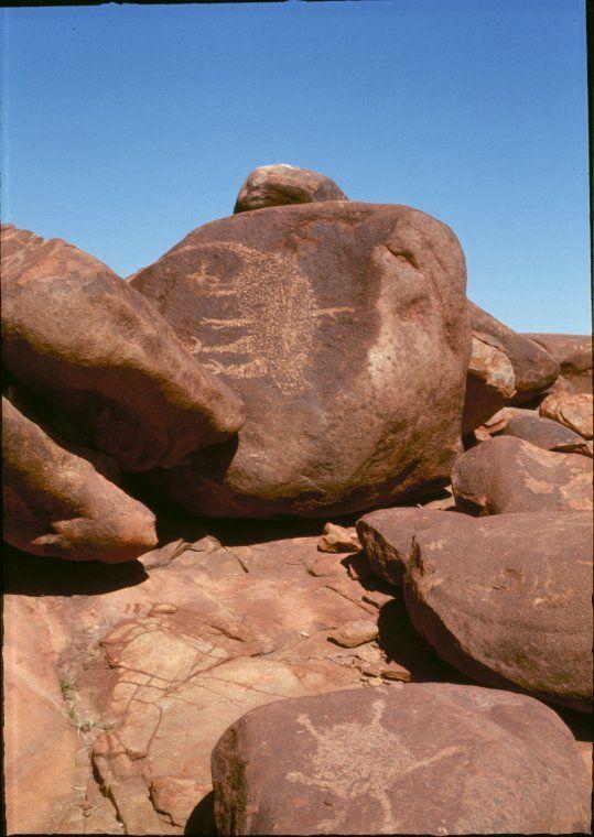 142412PD Aboriginal rock art. http://encore.slwa.wa.gov.au/iii/encore/record/C__Rb2818243__SArt%2C%20Aboriginal%20__Ff%3Afacetmediatype%3Av%3Av%3APhotograph%3A%3A__P0%2C11__Orightresult__U__X3?lang=eng&suite=def
