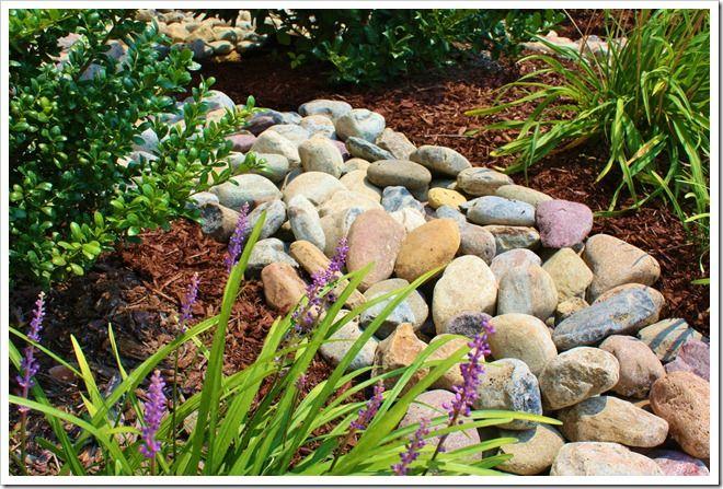 69 best images about river rocks on pinterest gardens for Smooth landscaping rocks