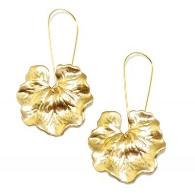 toodles BY TOODLEBUNNY Geranium Leaf Earrings