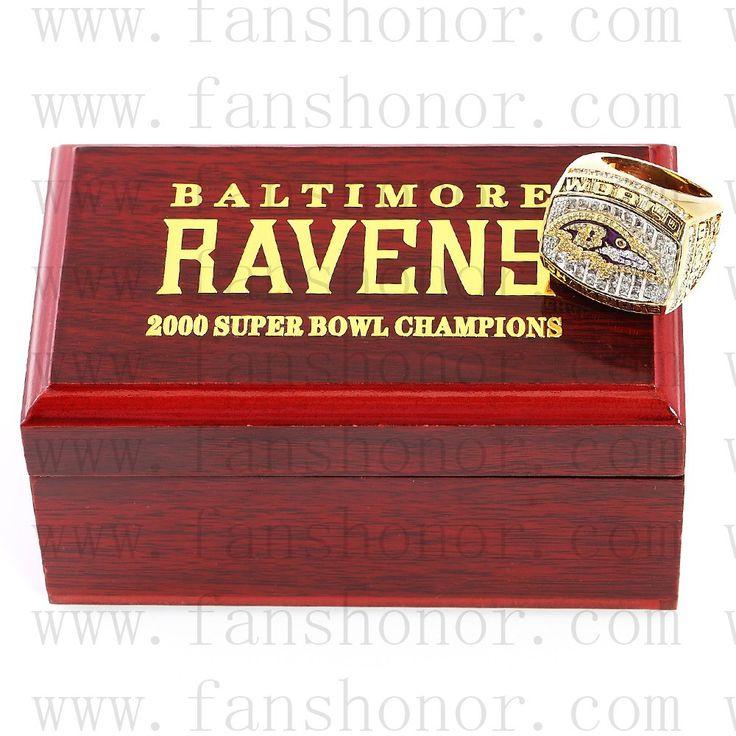 Custom NFL 2000 Super Bowl XXXV Baltimore Ravens Championship Ring - Football