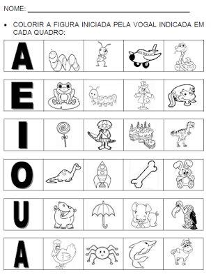 ATIVIDADES PARA EDUCADORES: Trabalhando com nome de desenhos iniciados com vog...