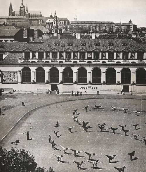 Exercises under the castle, Prague, Mala Strana 50-60s