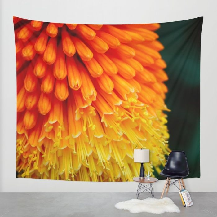Kniphofia Rooperi Wall Tapestry by Mixed Imagery | Society6