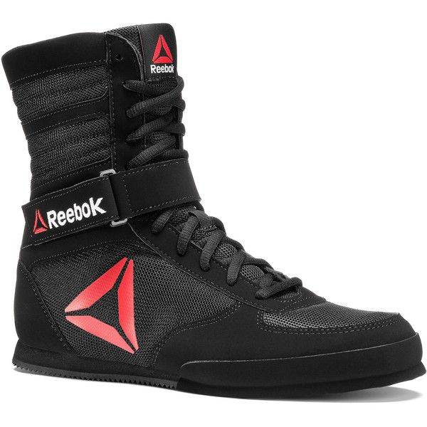 Reebok Boxing Boot - Buck ($100) ❤ liked on Polyvore featuring men's fashion, men's shoes, men's boots, men, shoes, mens nubuck shoes, mens boots, reebok mens shoes and mens shoes