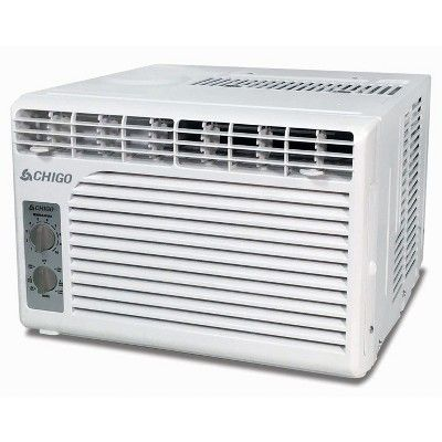 Chigo - 5000 Btu Window Air Conditioner Mechanical Controls, White