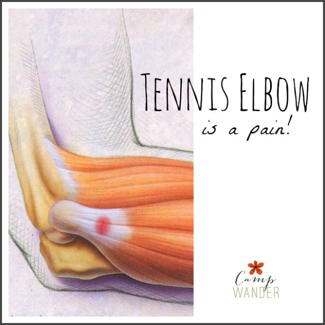 What are the symptoms of tennis elbow?