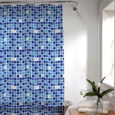 Varick Gallery Roumfort Vinyl Shower Curtain Color: Blue