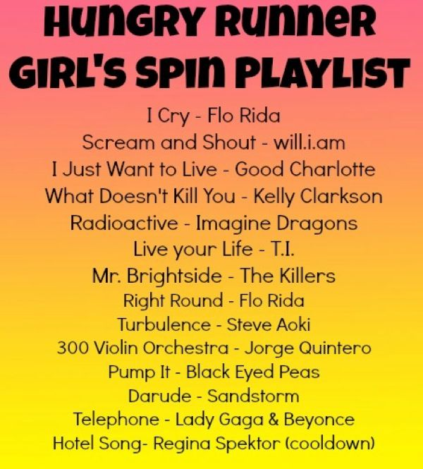 Some fast paced workout songs.... Not that I am working out yet but I did pin that butterfinger bar pin :/