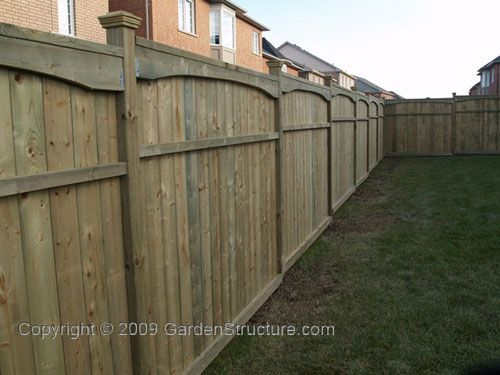 wood privacy fence styles | New Style Wood Fence Plans and Designs