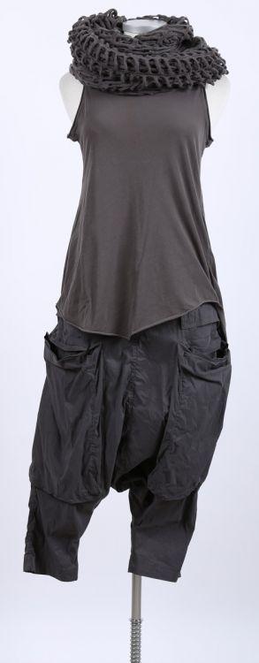 rundholz - Longtop mit Falte Stretch mohn - Sommer 2015 - stilecht - mode für frauen mit format...