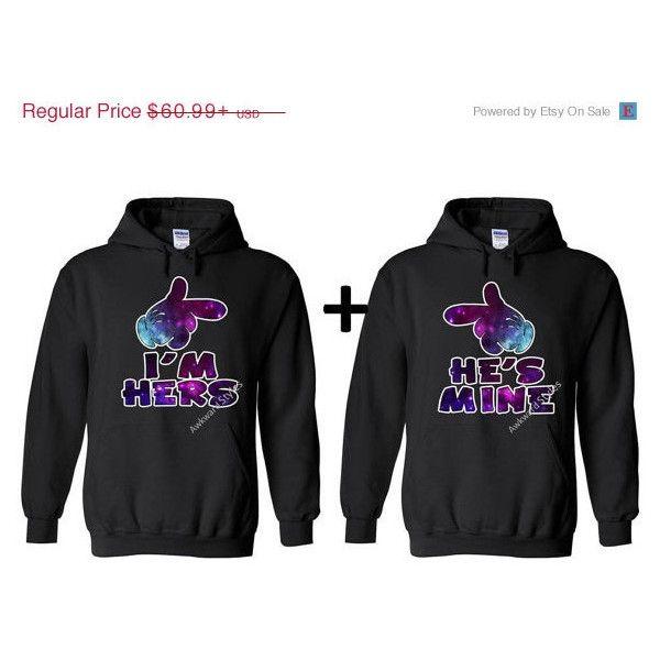 I'm Hers He's Mine,Disney Couple Matching Disney Hoodie Sweatshirt... ($53) ❤ liked on Polyvore featuring tops, hoodies, couples, hoodies sweatshirts, sweatshirts hoodies, galaxy print hoodie and galaxy print sweatshirt