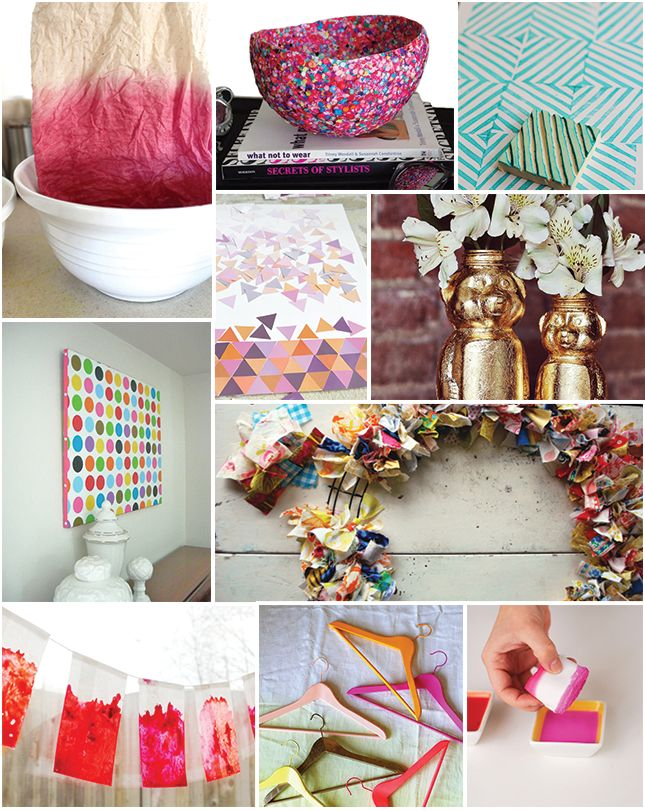 10 COLORFUL DIY PROJECTS TO TRY
