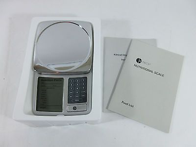 KITRICS Digital Nutrition Adjust Silver Digital Scales Label Facts Calories