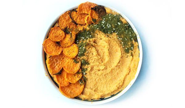 Sweet Potato Hummus Recipe  #GlutenFree #Vegan #Healthy #recipe