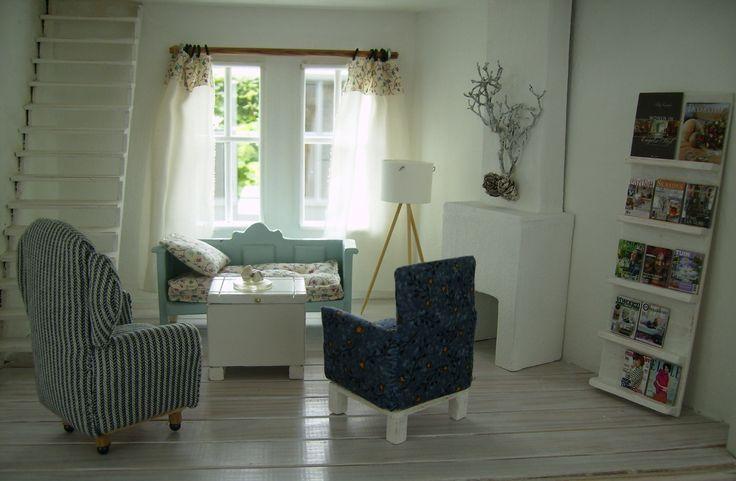 poppenhuis meubeltjes woonkamer