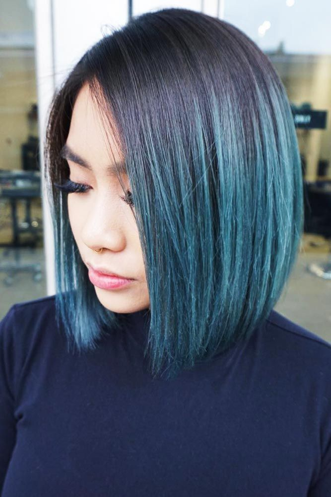 30 Inspiring Teal Hair Ideas To Stand Out In The Crowd Lovehairstyles Short Ombre Hair Short Hair Balayage Thick Hair Styles
