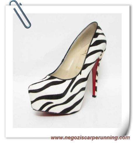 scarpe calcio bambino Daffodile 160mm Pony Zebra Christian Louboutin Donna