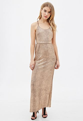 Metallic Maxi Dress | FOREVER21 | #letscelebrate