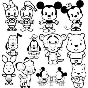 Image result for Disney Character Coloring Pages Collage