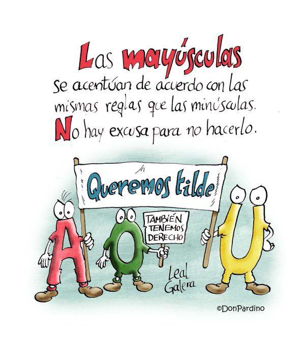 Las #mayúsculas se acentúan by @DonPardino