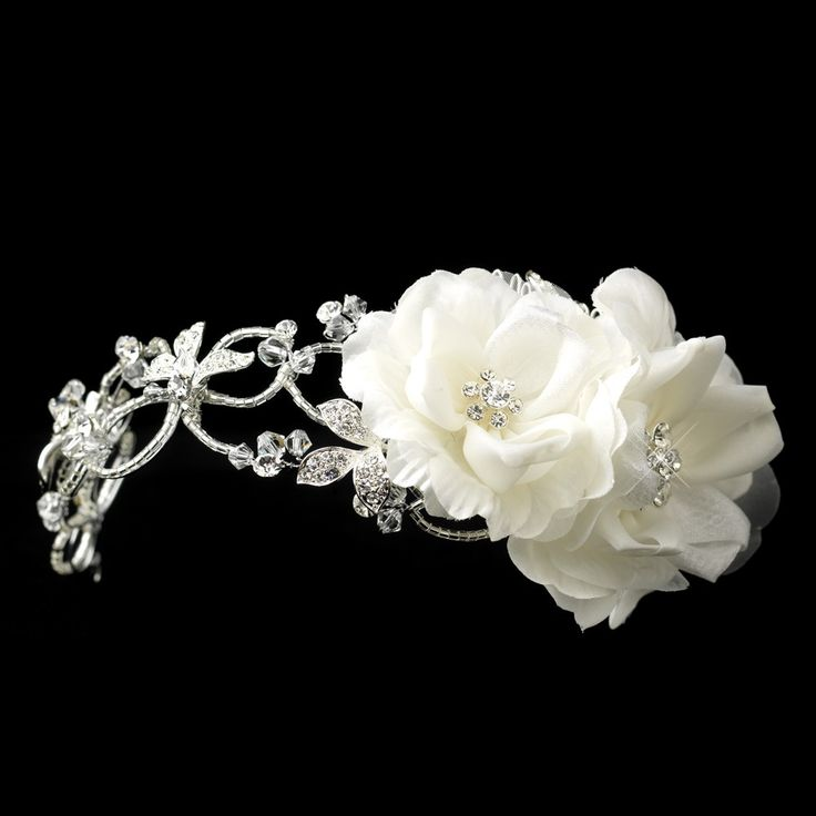 Bridal headband Wedding day headpiece This would be gorgeous in my natural hair.