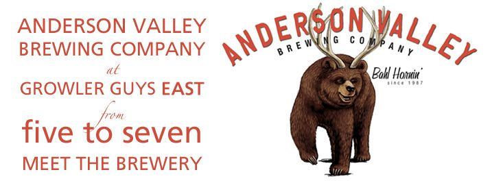 Wooo! Anderson Valley is coming to TGG East on the first day of the Bend Brewfest!
