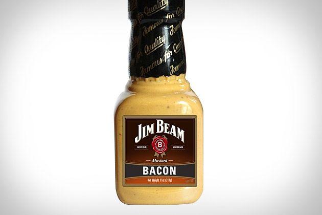 jim beam bacon mustard. só para os fortes.