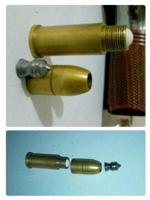 Hasil gambar untuk selongsong peluru mimis berulir