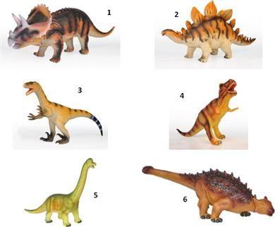 WC Δεινόσαυροι Μαλακοί 23''-6 Σχέδια (2608) | Moustakastoys.gr