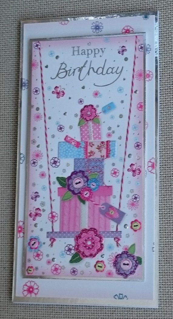 Handmade DL Greeting Card  Birthday by BavsCrafts on Etsy