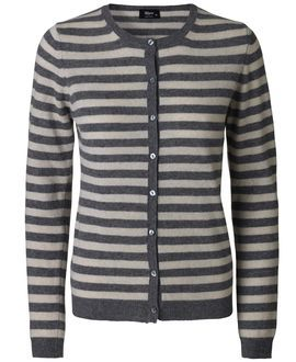 Striped cardigan from Magasin #magasindunord #cardigan #striped #blackandwhite www.magasin.dk