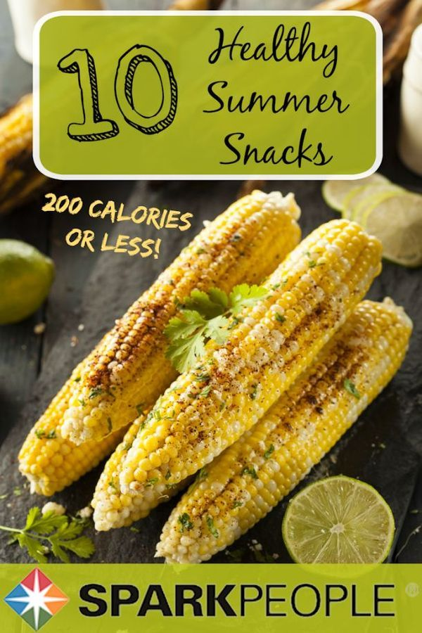 Check out these 10 healthy summer snacks! Summer doesn't have to be the time of year when you throw your diet out the window. All of these snacks have 200 calories or less--so feel free to indulge a little this summer!