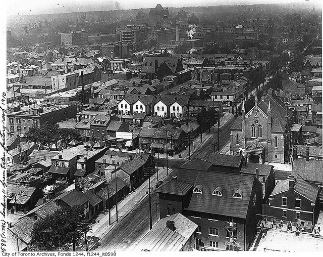 Looking north from the top of T. Eaton factory, Toronto, Ontario, c. 1910