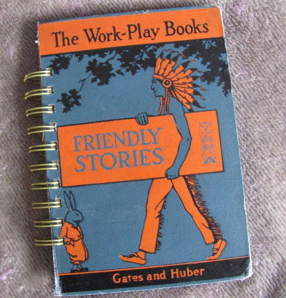 Recycled Vintage School Book Journal A Work Play by VintageIntent