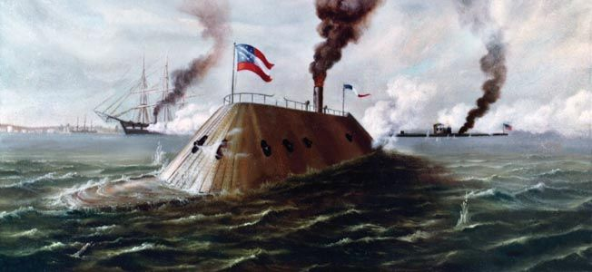 a look at the naval battle between the uss monitor and css merrimack On mar 9, 1862, the civil war naval battle between the uss monitor (union) and the css merrimack (confederacy) took place known as the battle of hampton roads, this engagement was.