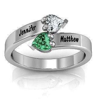 """""""Tribute"""" Hearts Bypass Ring 