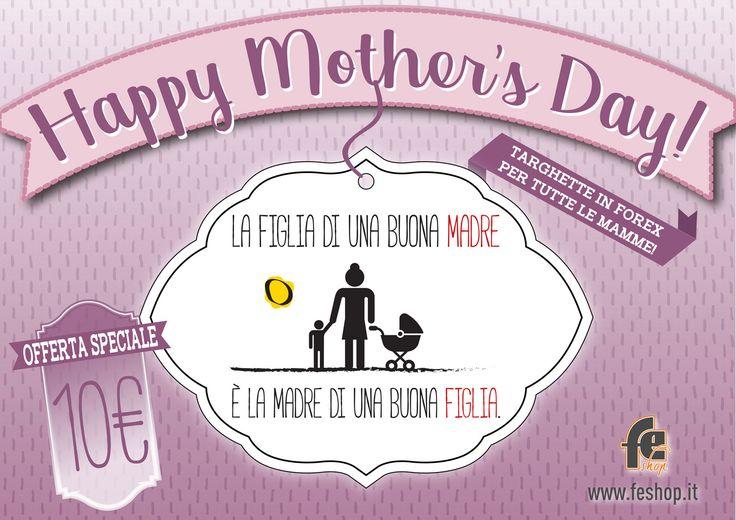 👩 HAPPY MOTHER'S DAY! 👩  Pronti per la Festa della Mamma?  Scegli il tuo regalo da FE Shop!  Scopri le nostre nuove targhette in forex e non aspettare... La festa si avvicina! 🌸  #feshop #feshoppati #happymothersday #bolzano #grafica #2k17 #personalizzazione #gadget #mamma #festa #targhette #forex #wlamamma