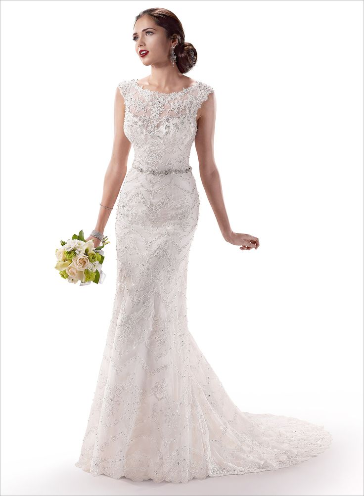 Elegant Maggie Sottero bridal gown Cassidy at B loved Boutique Call today to schedule your