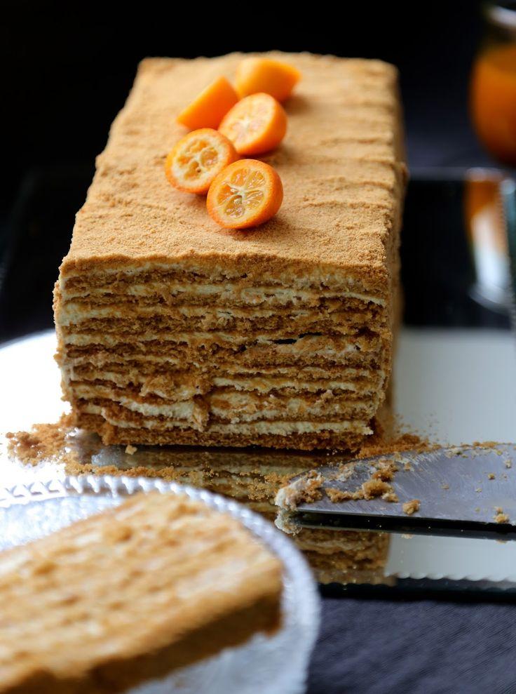 medovik , cake russe au miel